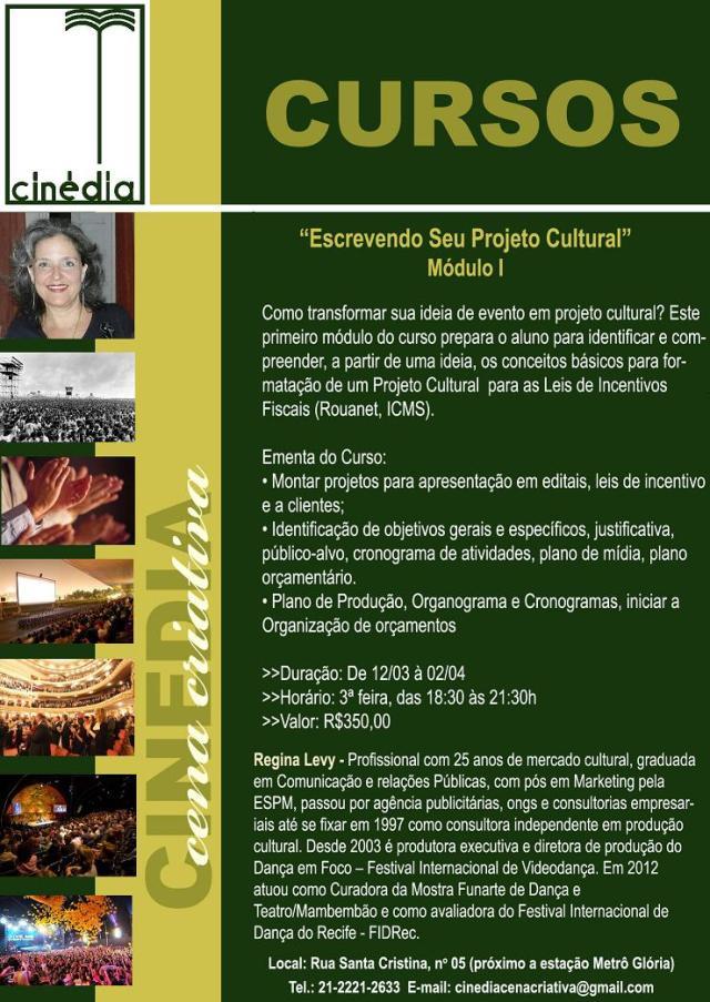 Newsletter Escrevendo seu Projeto Cultural